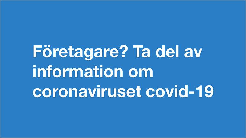 Covid-19 information till företagare
